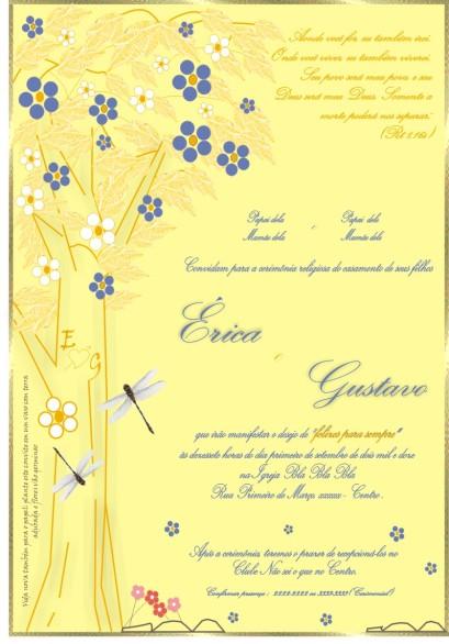 Convite Érica GustavoII